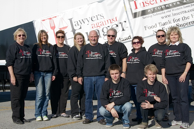 Lawyers Against Hunger 17 Two Years in a Row!  Inserra & Kelley Once Again Named Best Personal Injury Law Firm in the Omaha Metro by the Reader Magazine and WOWT