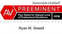 Ryan Sewell Personal Injury Attorney Martindale Hubbell